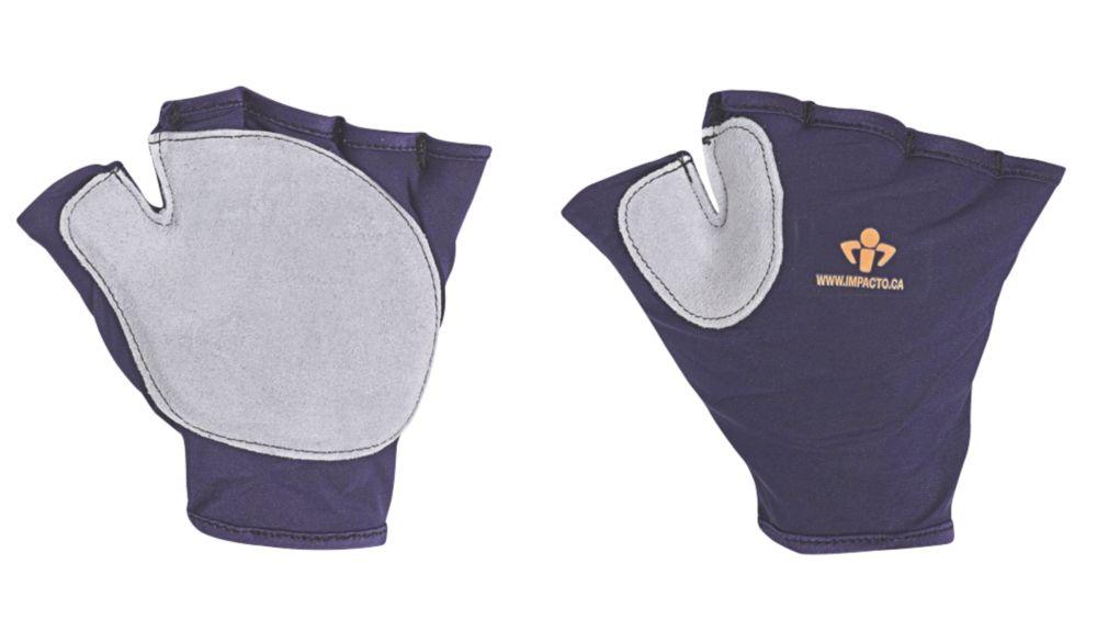 Image of Impacto 502-10 Anti-Vibration Gloves Blue & Grey X Large