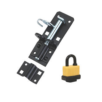 Image of Hardware Solutions Gate Bolt Kit Black 130mm