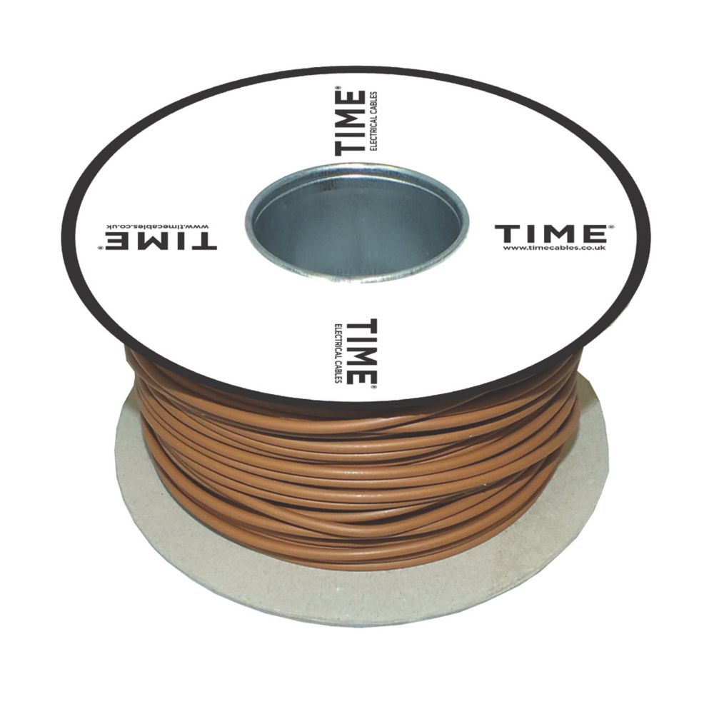 Image of Conduit Wiring Cable 6491B LSF 1-Core 1.5mm x 100m Brown