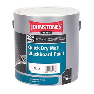 Image of Johnstones Matt Blackboard Paint Black 2.5Ltr
