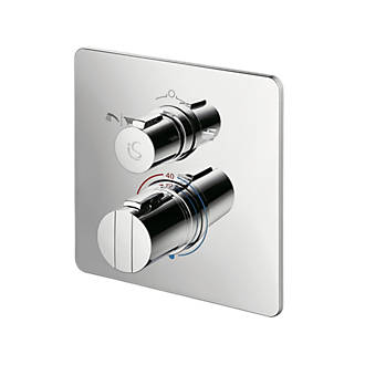 Image of Ideal Standard Concept Easybox Concealed Thermostatic Bath & Shower Mixer Valve Fixed Chrome