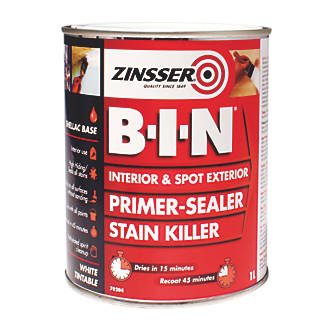 Image of Zinsser B-I-N Shellac-Based Primer Sealer 1Ltr