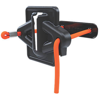 Image of Skipper Retractable Barrier Cord Strap Holder / Receiver Black