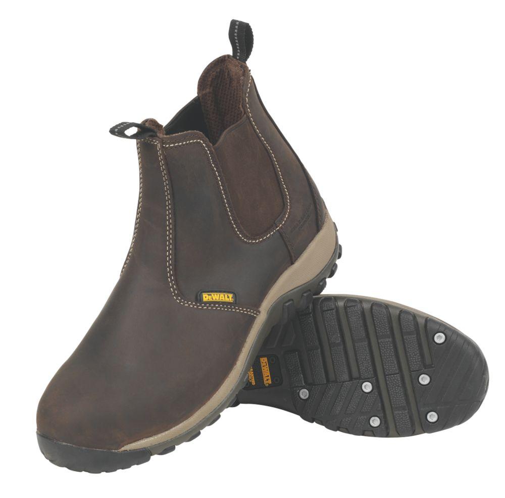 Image of DeWalt Radial Dealer Safety Boots Brown Size 12