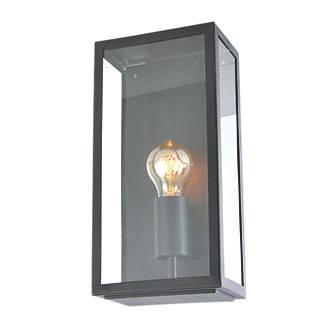 Image of Zinc Minerva Black Metal Framed Box Lantern 60W