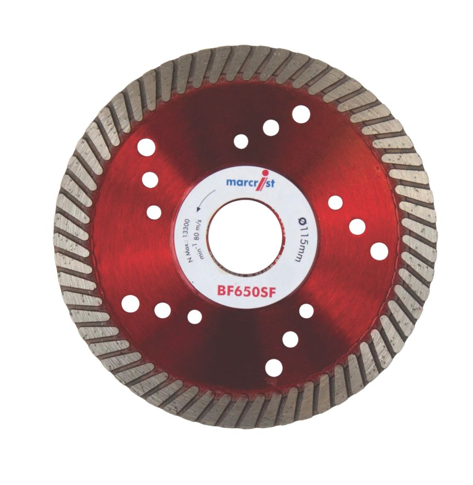 Image of Marcrist BF650SF Turbo Diamond Blade 115 x 22.2mm