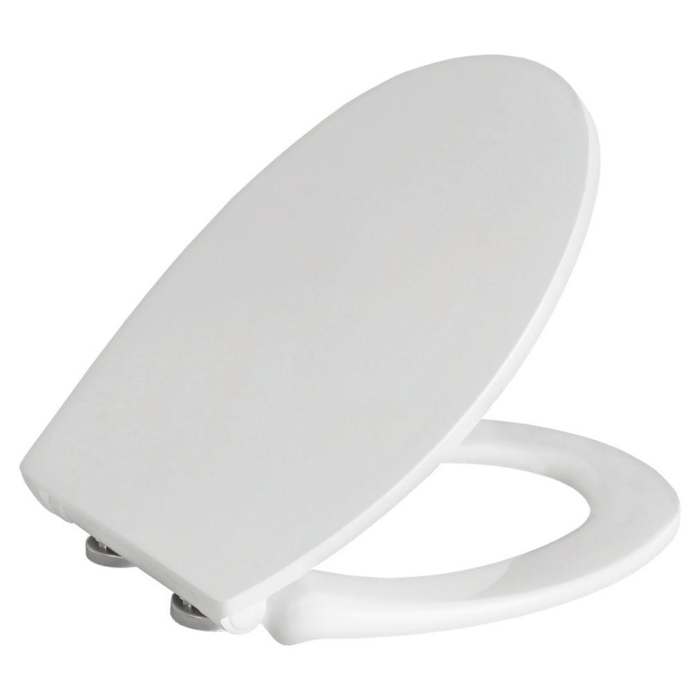 Image of Carrara & Matta Lucca Soft-Close with Quick-Release Toilet Seat Thermoset Plastic White