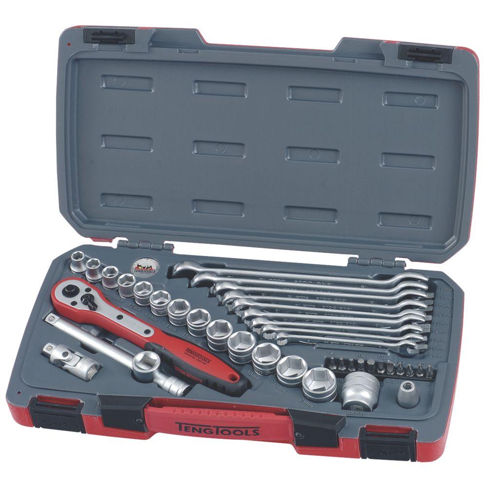 "Image of Teng Tools 3/8"" Socket & Spanner Set 39 Pieces"