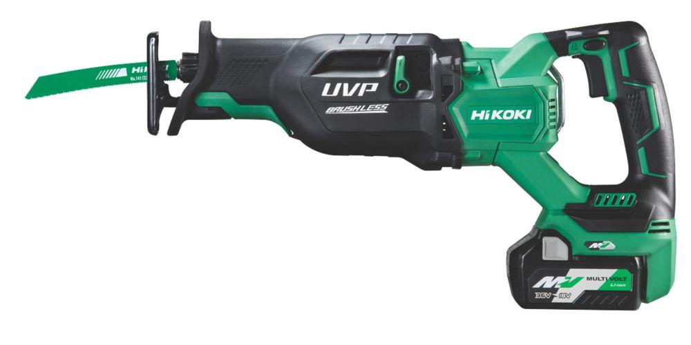 Image of HiKOKI CR36DA/J4Z 36V 2.5Ah Li-Ion Multi Volt Brushless Cordless Reciprocating Saw