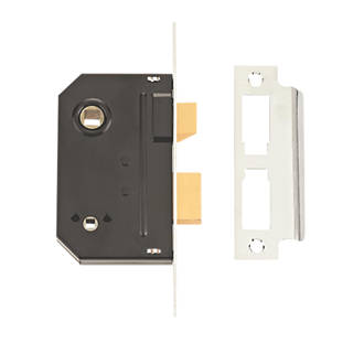 Image of Union Chrome Bathroom Mortice Lock 63mm Case - 44mm Backset