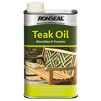 . Ronseal Teak Oil Clear 1Ltr   Teak Oil   Screwfix com
