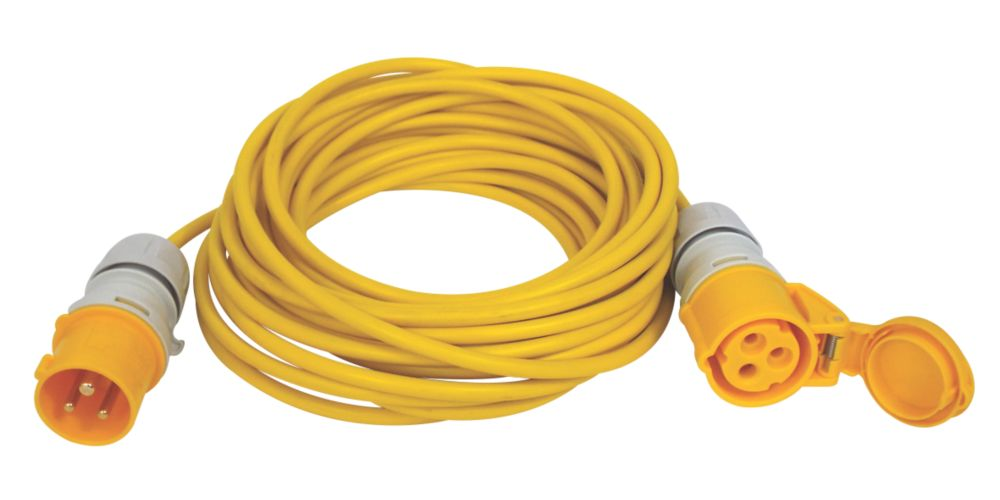 Image of Carroll & Meynell 110V Extension Lead Yellow 1.5mm x 14m