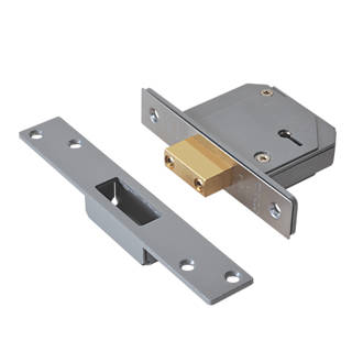 Image of Union Satin Chrome BS 5-Lever Mortice Deadlock 67mm Case - 40mm Backset