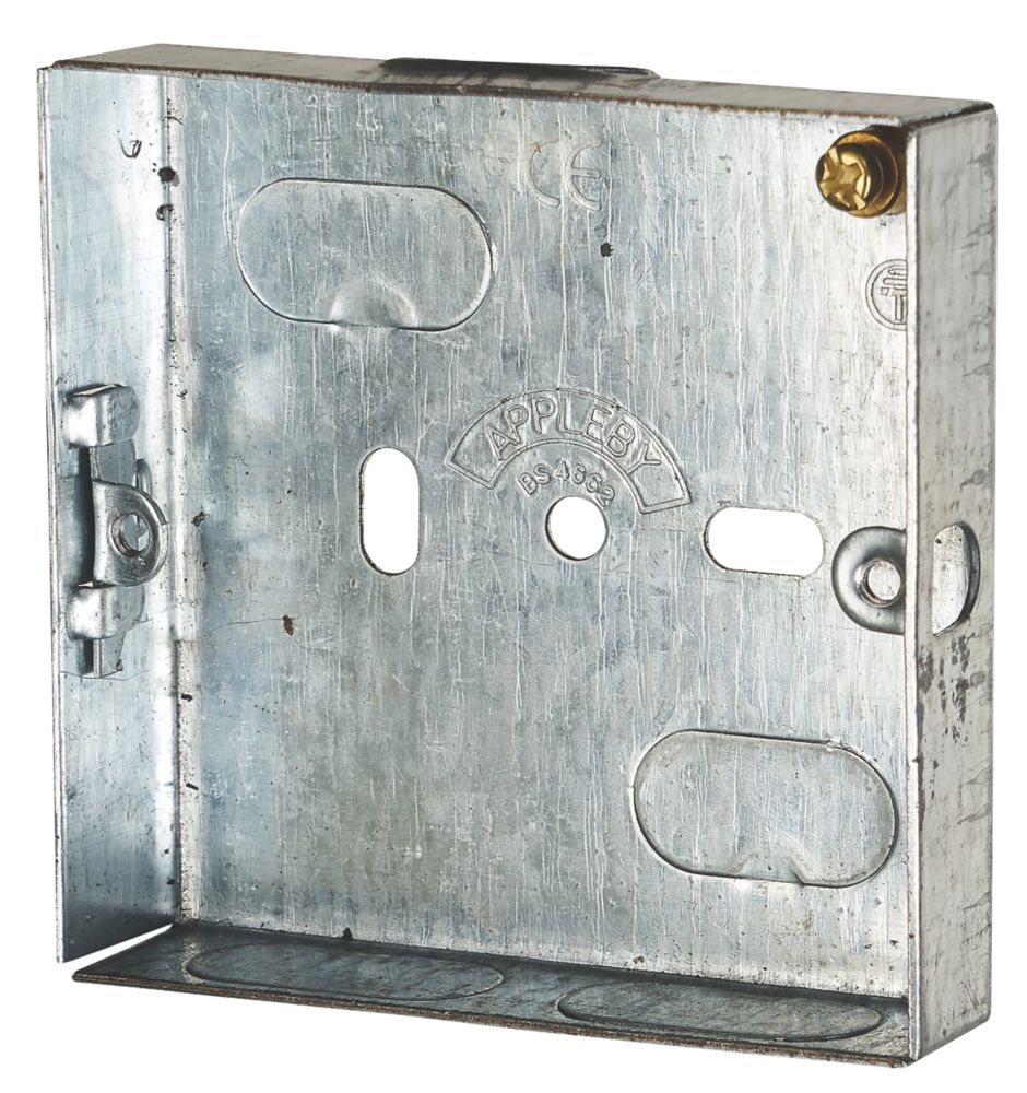 Image of Appleby Galvanised Steel Knockout Box 1G 16mm