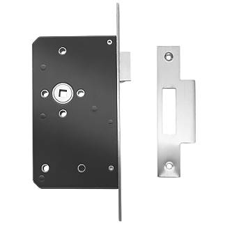 Image of Briton Stainless Steel Square Forend Mortice Latch 93mm Case - 60mm Backset