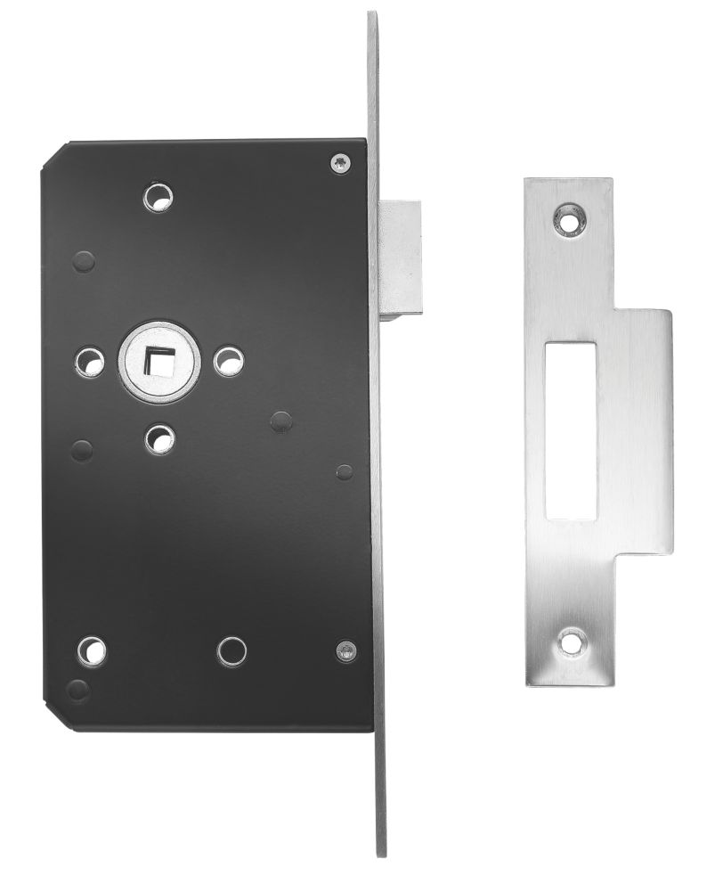 Image of Briton Square Forend Mortice Latch Stainless Steel 20mm