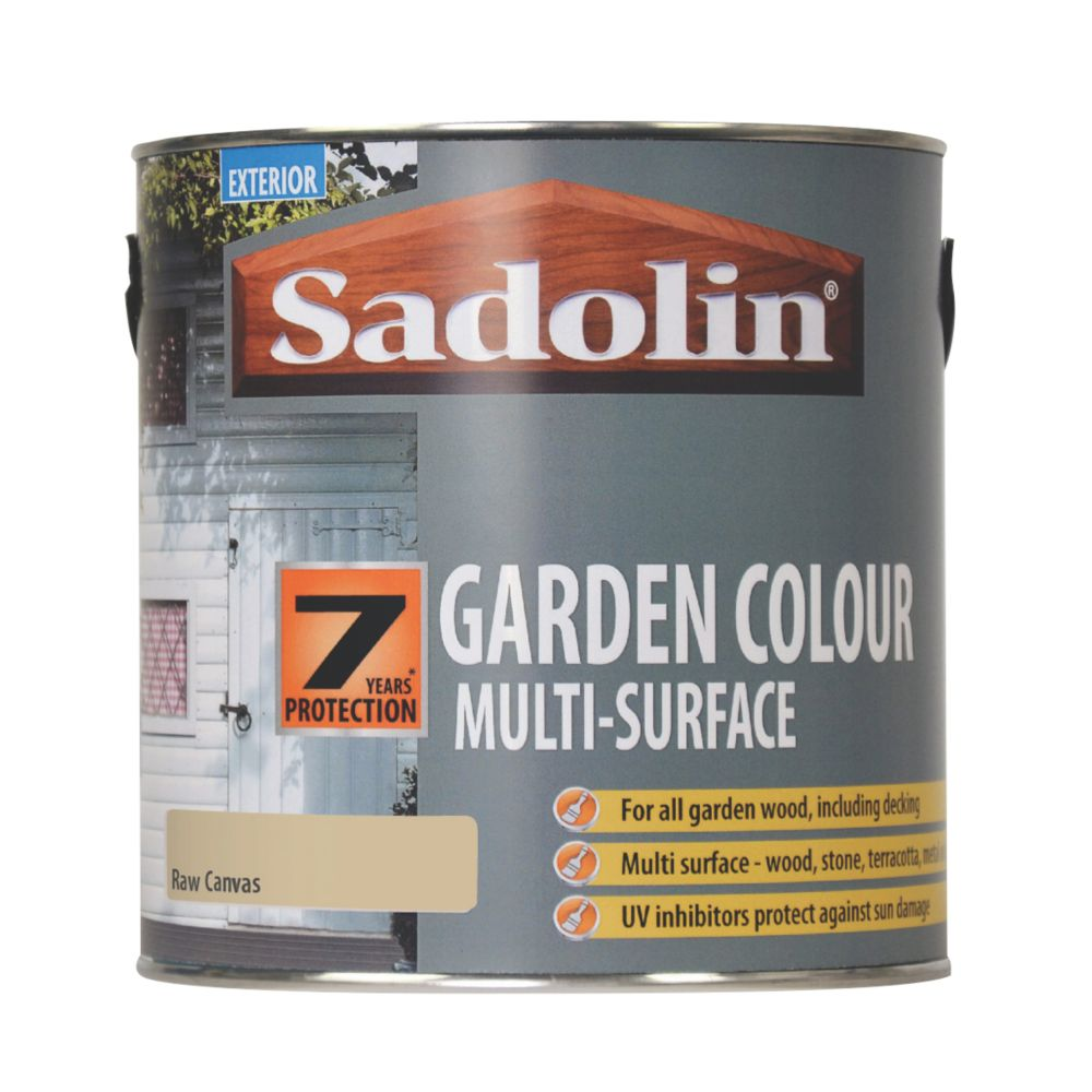 Image of Sadolin Garden Colour 7-Year Woodstain Raw Canvas 2.5Ltr