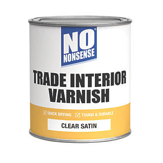 Image of No Nonsense Quick-Dry Varnish Satin Clear 750ml