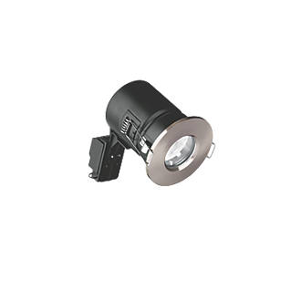 Image of Enlite Fixed Fire Rated LED Downlight Satin Nickel 520lm 5W 240V