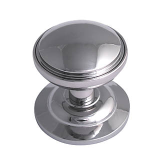 Image of Fab & Fix Decorative Round Door Knob Polished Chrome 75mm