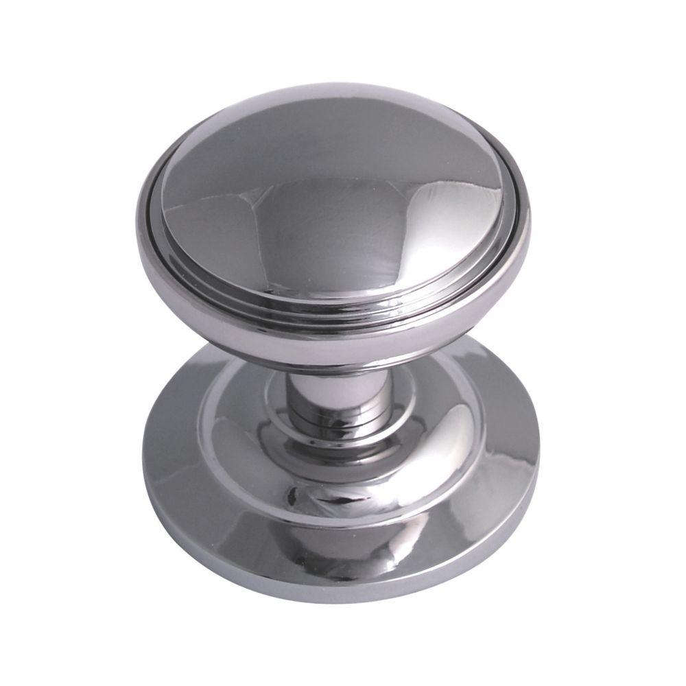 Image of Fab & Fix Decorative Round Door Knob Hardex Chrome 75mm