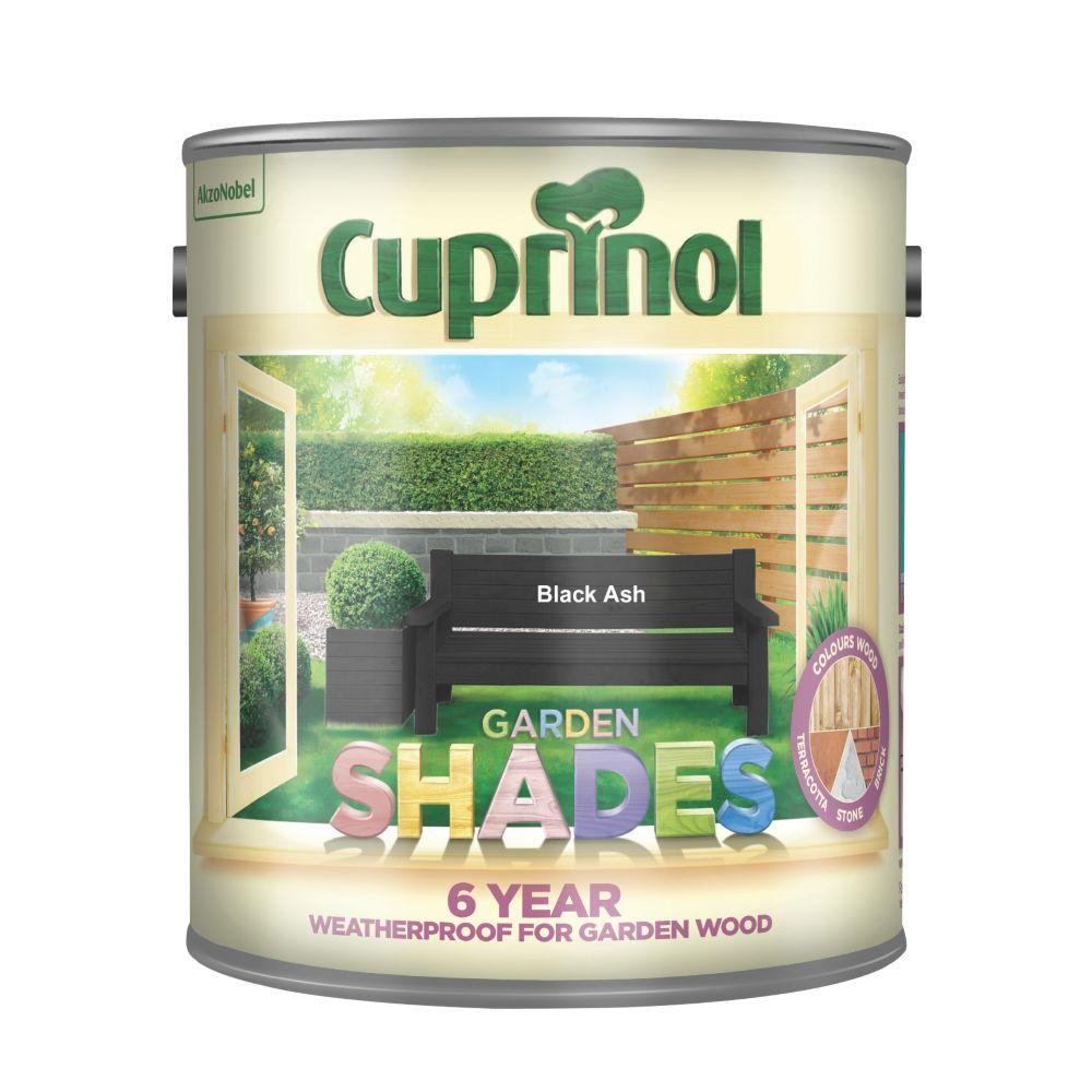 Image of Cuprinol Garden Shades Woodstain Matt Black Ash 2.5Ltr