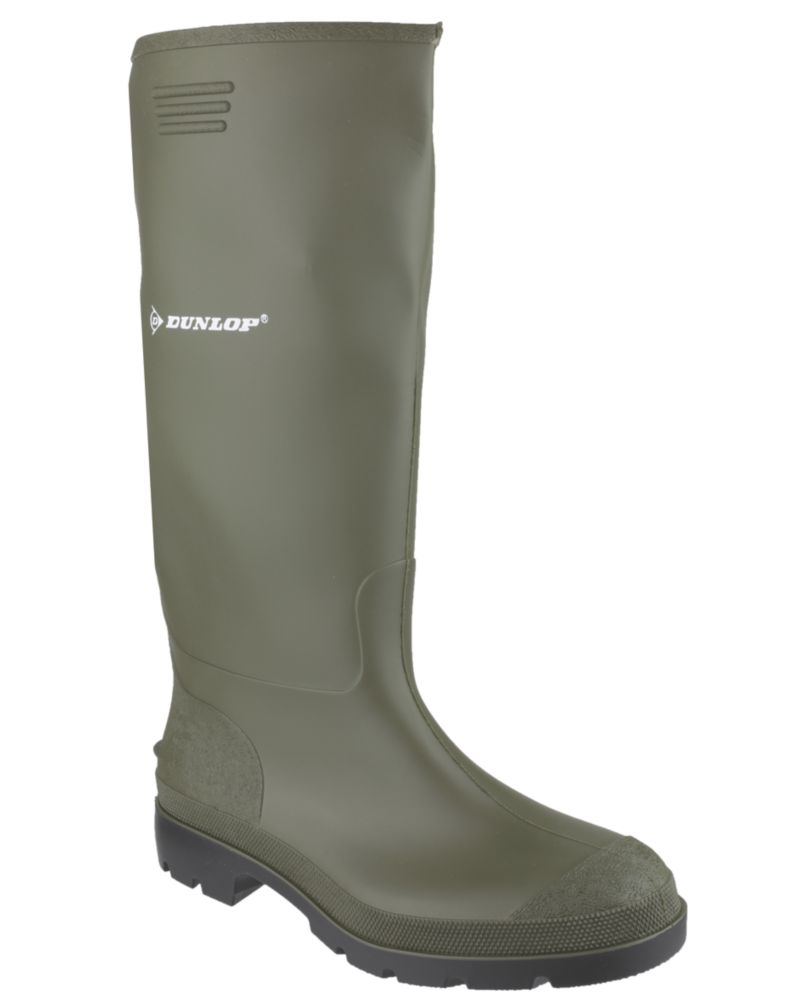 Image of Dunlop Non Safety Footwear Pricemaster 380VP Non-Safety Wellington Boots Green Size 3