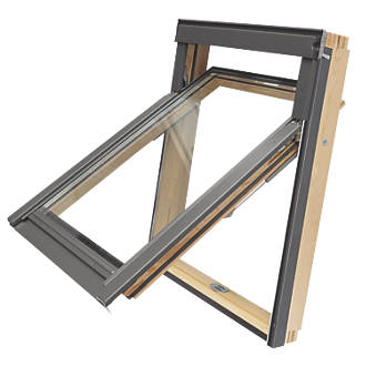 Image of Tyrem M4A Manual Top-Hung Lacquered Natural Pine Emergency Escape Roof Window Clear 780 x 980mm