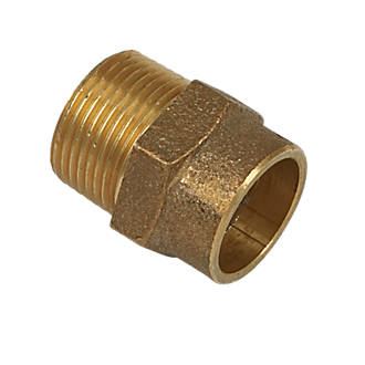 """Image of Yorkshire Brass Solder Ring Adapting Male Coupler 22mm x ¾"""""""