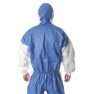 """Image of 3M 4535 4535 Type 5/6 Disposable Coverall Blue/White Large / X Large 42-46"""" Chest L"""