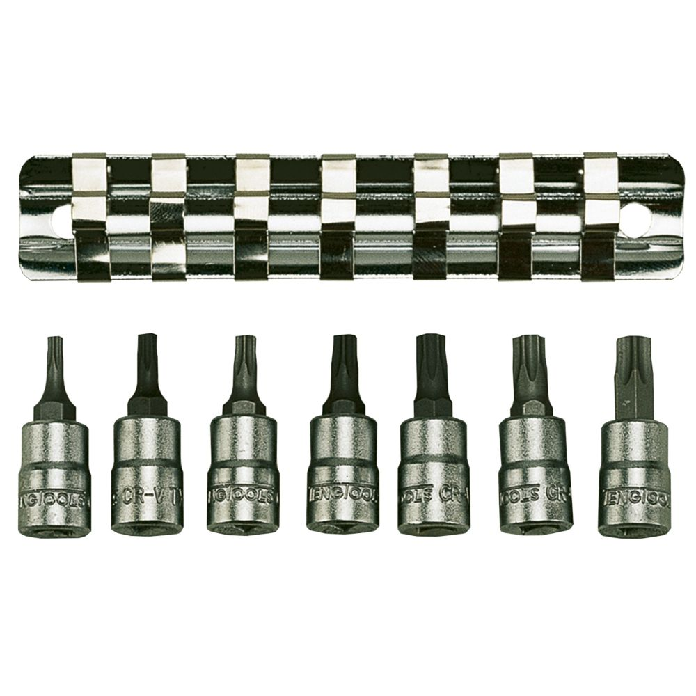 "Image of Teng Tools M1408TX ¼"" TX Socket Rail Set 7 Pieces"