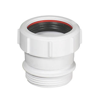 Image of McAlpine S31U Compression & BSP Connections Straight Connector White 40mm x 40mm