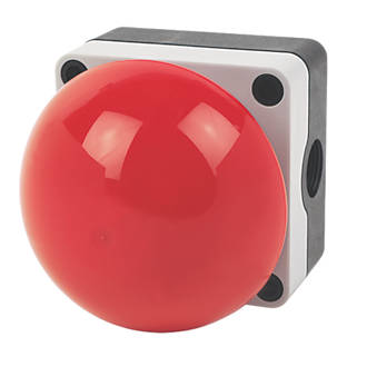 Image of Hylec Red Push-Button Emergency Stop / Palm / Foot Button