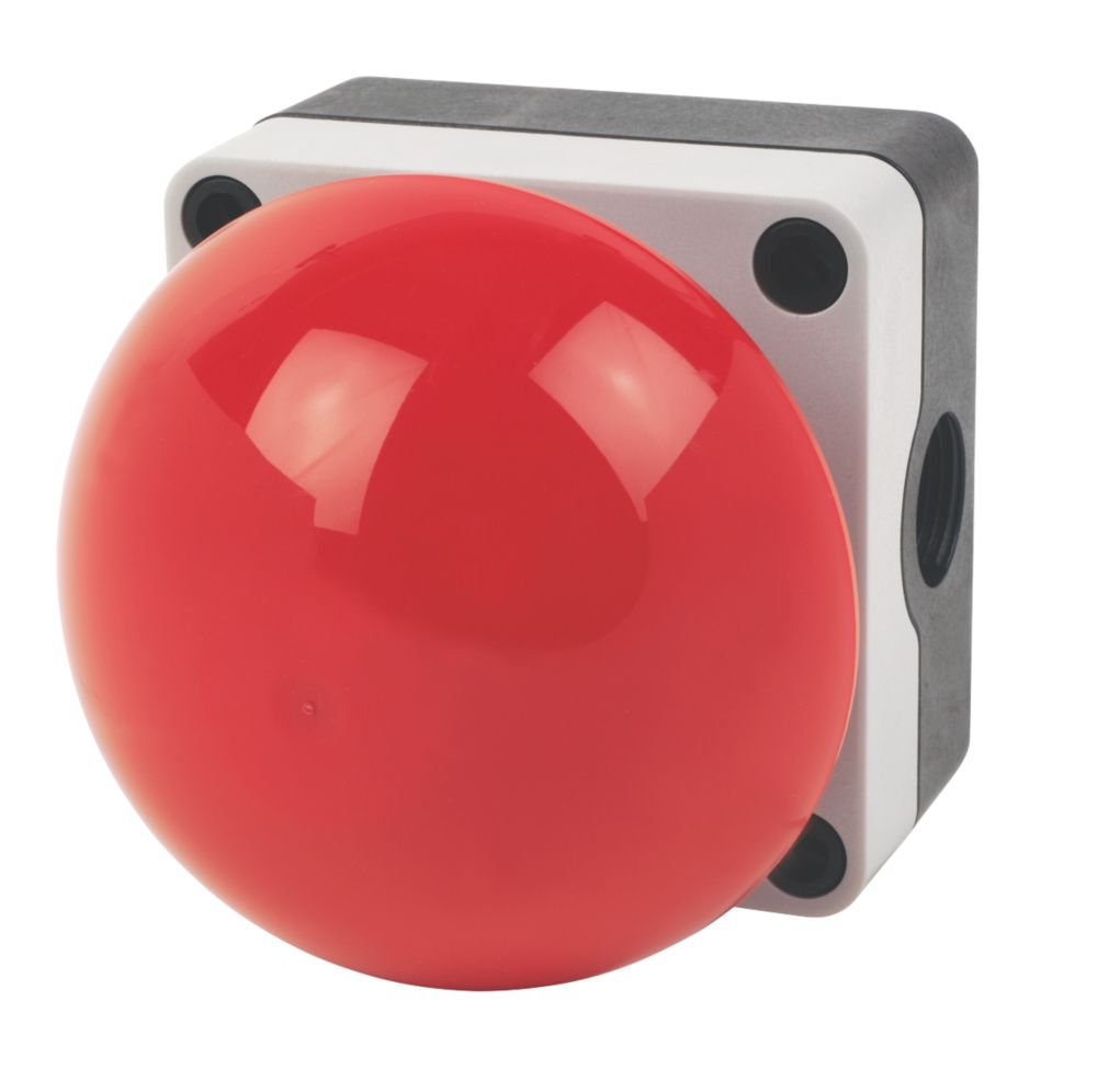 Image of Hylec Palm / Foot Stop Button Red