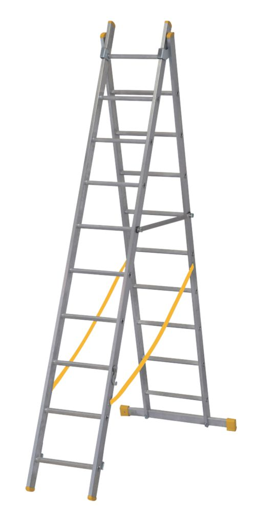 Image of ExtensionPLUS X3 Aluminium Combination Ladder 2 x 9 Rungs 4.92m