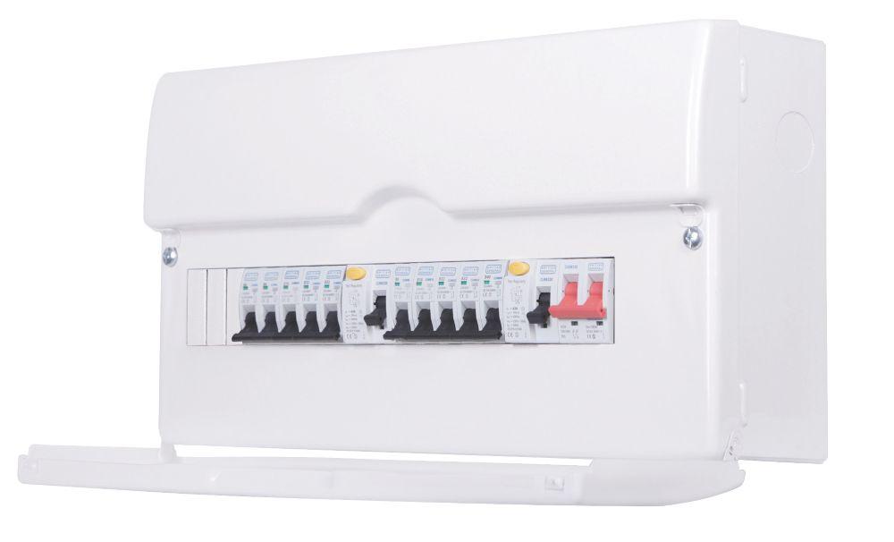 Image of BG 13-Way Dual RCD Metal Consumer Unit & 10 MCBs