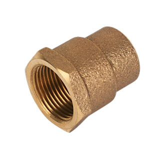 Image of Endex Brass End Feed Adapting Female Coupler 22mm x ¾""