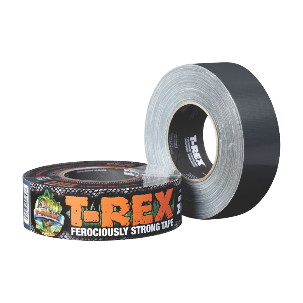 Image of T-Rex Ferociously Strong Cloth Tape Graphite Grey 48mm x 32m