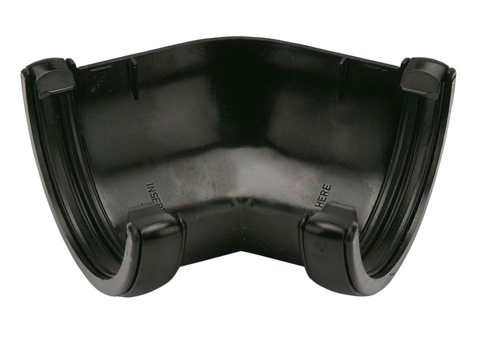 Image of FloPlast 135 Gutter Angle 112mm Black