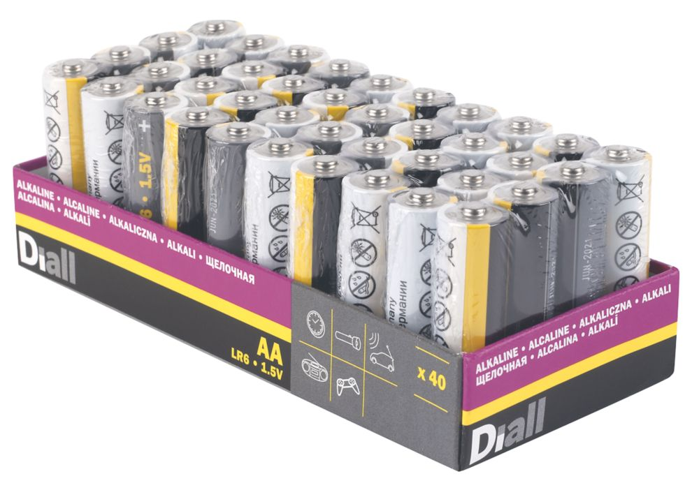 Image of Alkaline AA Batteries 40 Pack