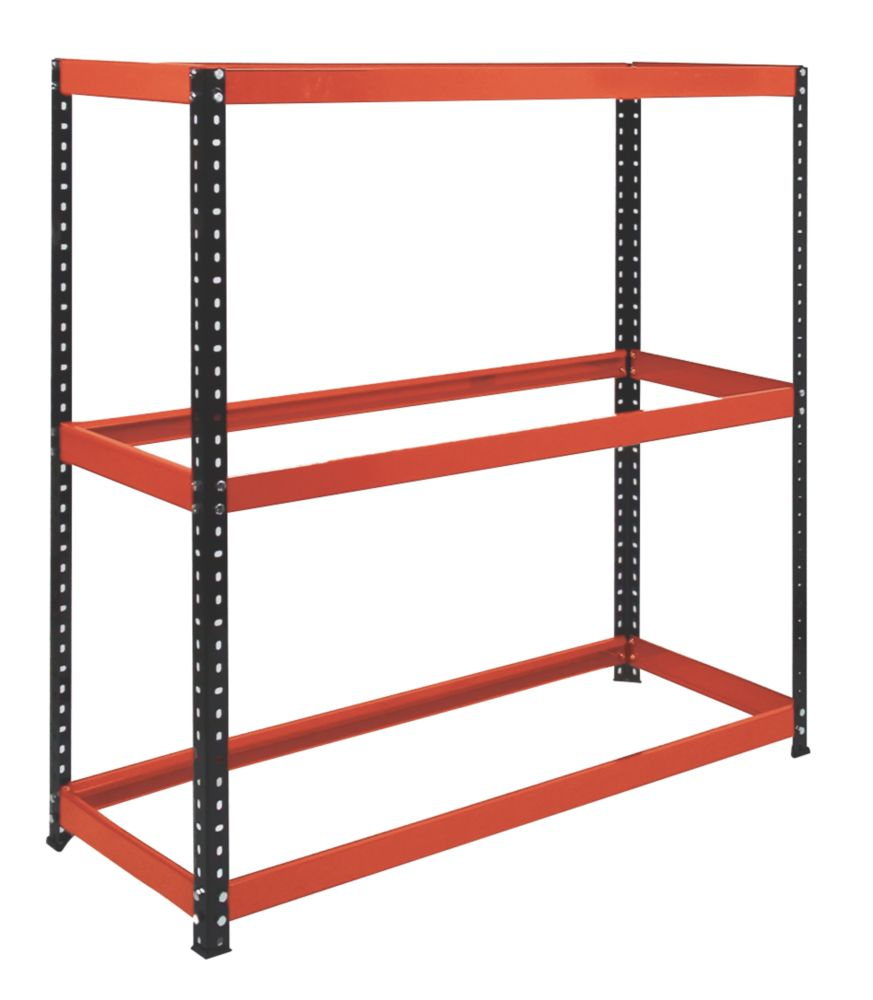 Image of RB Boss Powder-Coated Freestanding Tyre Rack 3-Tier