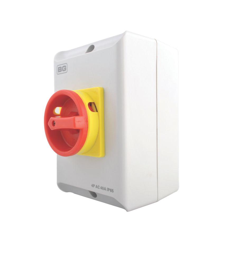Image of BG 4-Pole Rotary Isolator Switch 40A 230/400V