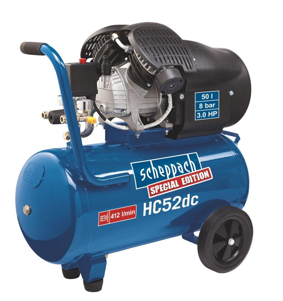 Image of Scheppach HC52DC 50Ltr Double Cylinder Compressor 230V