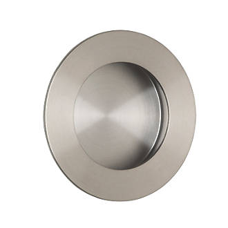Image of Eurospec Circular Flush Pull Handle 48mm Satin Stainless Steel