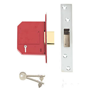 Image of Union Stainless Steel BS 5-Lever Mortice Deadlock 81mm Case - 57mm Backset