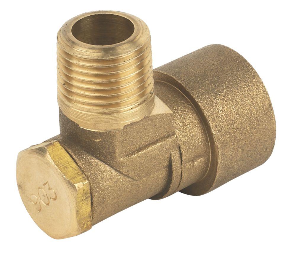 "Image of Angled Bayonet Socket Gas Fitting ½"""