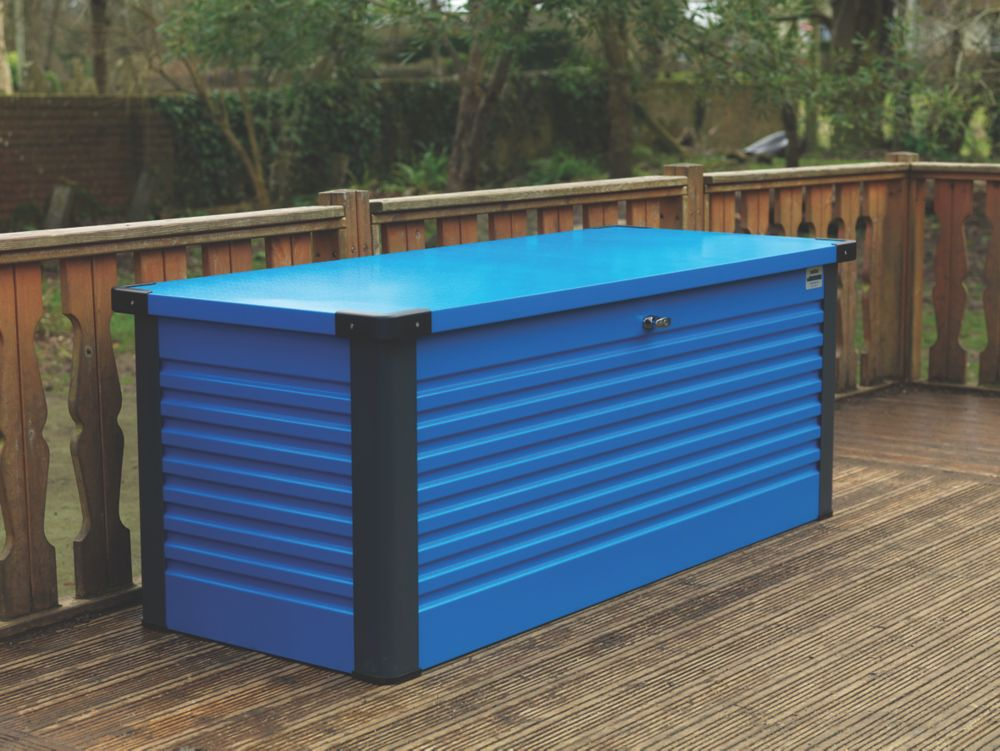 "Image of Trimetals Patio Box 4' 6 x 2' 6 x 2' 6"" Blue"
