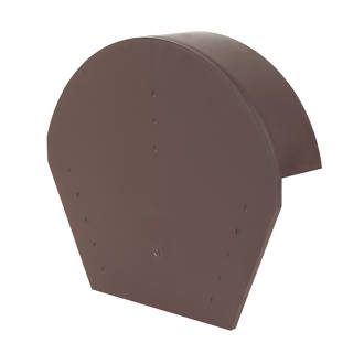 Image of Glidevale Brown Universal Dry Verge Half Round Ridge Caps 2 Pack