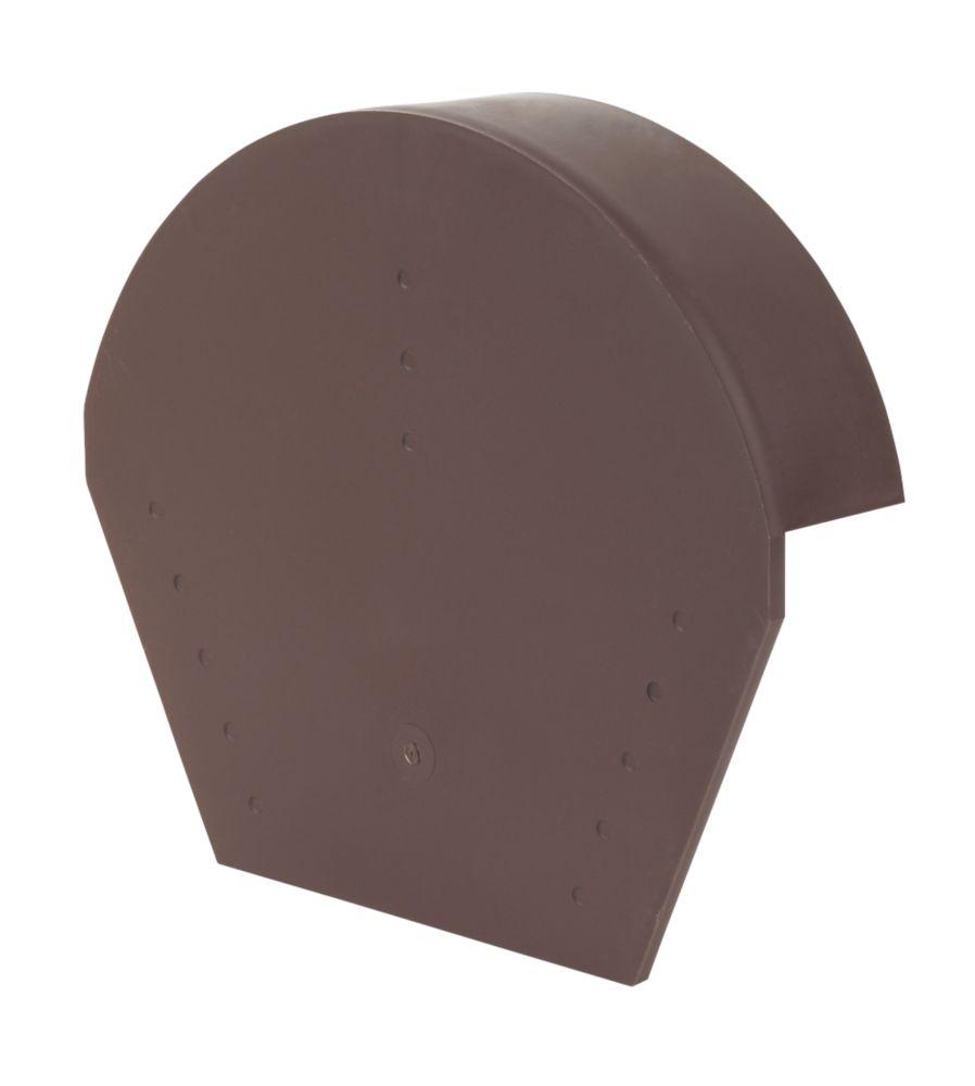 Image of Glidevale Brown Universal Dry Verge Half Round Ridge Caps 2 Pack