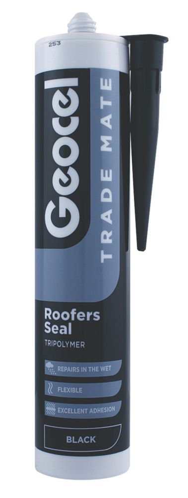 Image of Geocel Trade Mate Roofers Seal Black 310ml